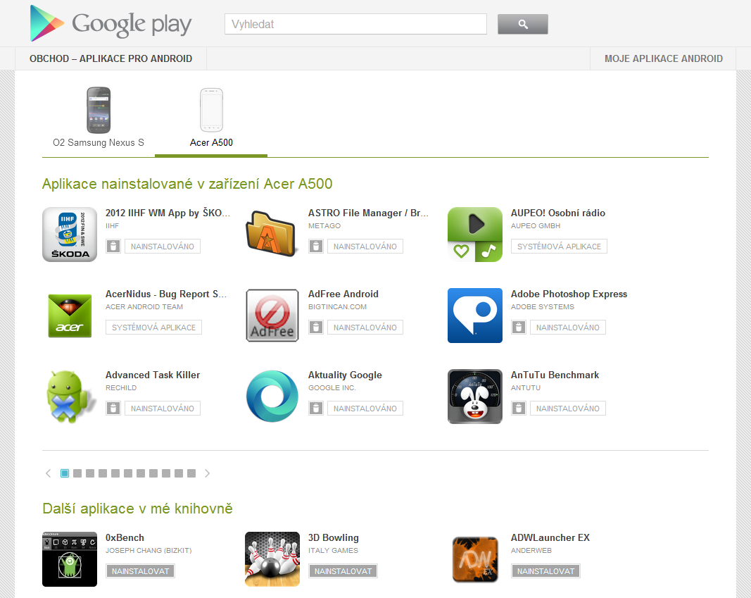 google play on line store