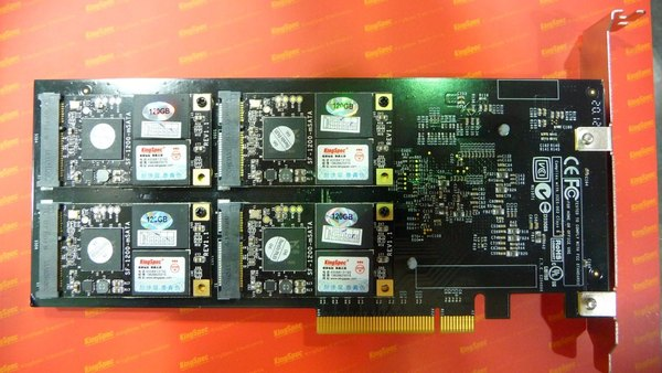 SSD do PCI Express ×16, firma KingSpec (Zdroj: TweakTown)