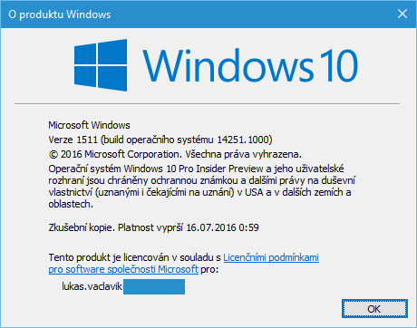 Windows 10 Insider Preview Build 14251