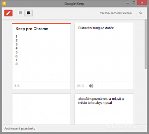 Okno v Chrome Canary 29