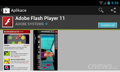 Adobe Flash Player pro Android