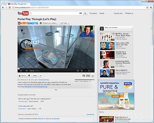 YouTube test redesign