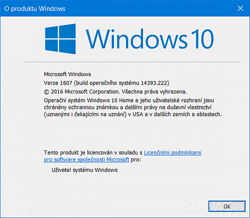 Windows 10 build 14393.222