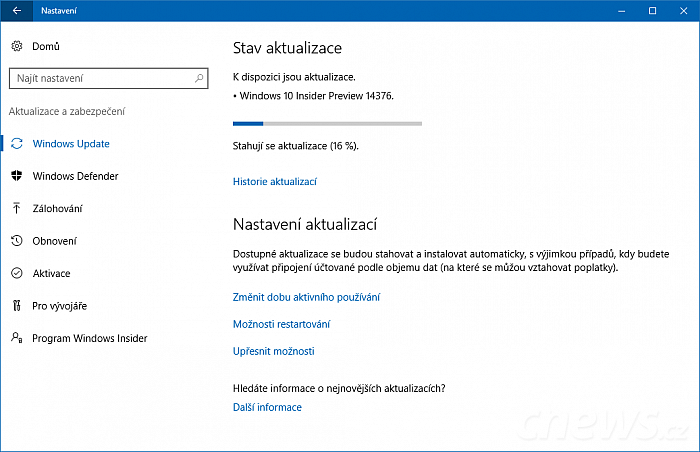 Windows 10 build 14376