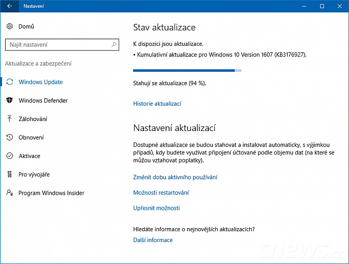 Přichází Windows 10 build 14393.5
