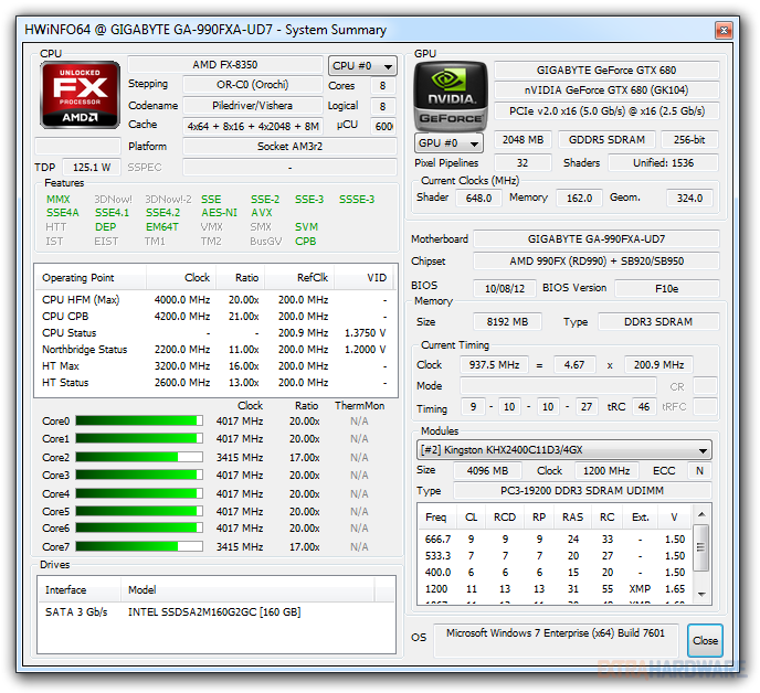 AMD FX-8350 (Vishera) screenshoty