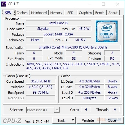 Intel Core i5-6300HQ