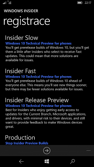 Windows 10 Mobile Insider Preview Build 10586.107