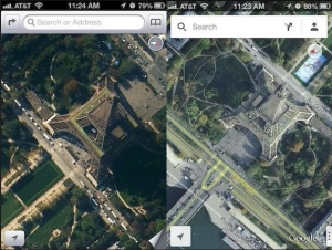 Apple Maps a Google Maps