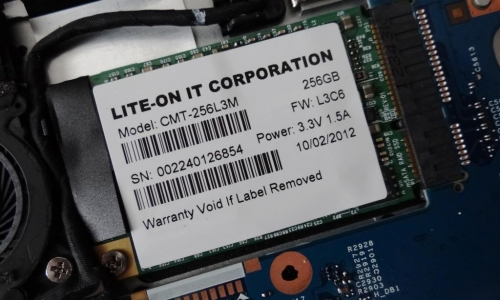 SSD Lite-On v ultrabooku Acer Aspire S7 (Zdroj: SSD Review)