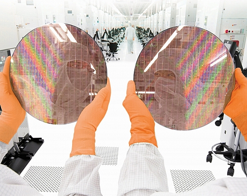 GlobalFoundries 300mm wafer