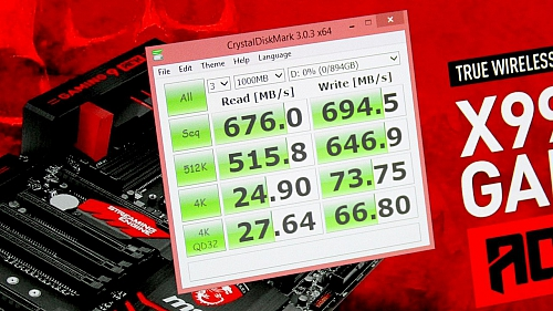 Test rychlosti USB 3.1 na MSI X99A Gaming 9 (Zdroj: PC Perspective)