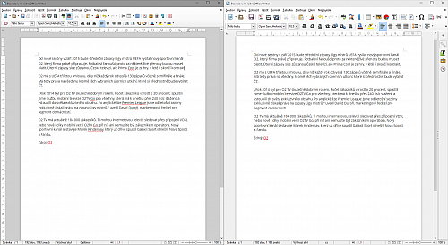 LibreOffice Writer 4.3 vs. Writer 4.4