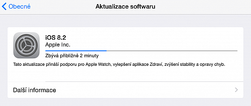 Apple vydal iOS 8.2