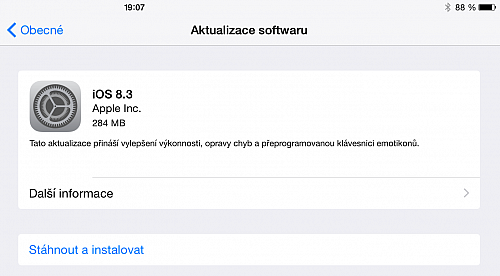 Apple vydal iOS 8.3