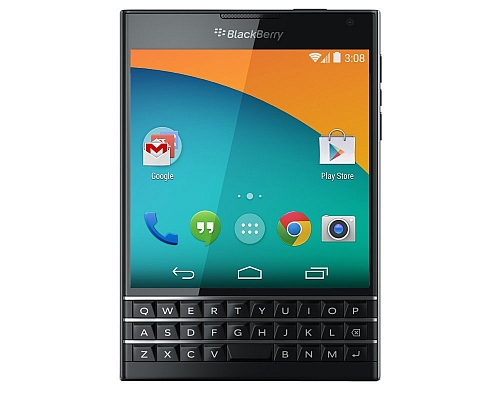 Takhle by mohl vypadat BlackBerry Passport s Androidem