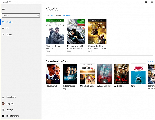 Xbox Video se mění na Movies & TV