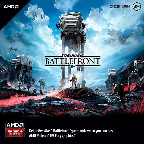 Star Wars Battlefront k Radeonům R9 Fury