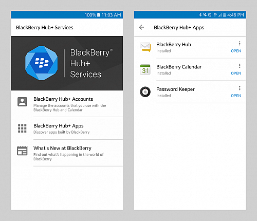 BlackBerry Hub+ pro Android
