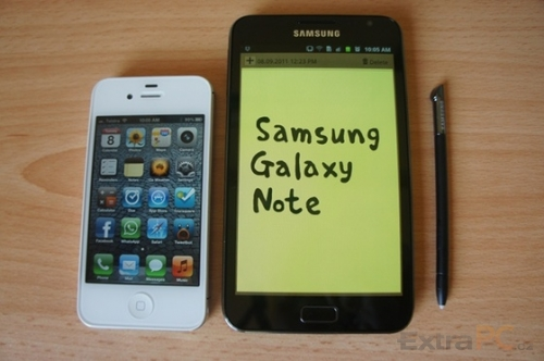 Samsung Galaxy Note vs. iPhone