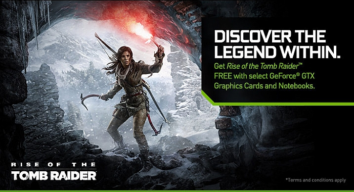 Nvidia dává hru Rise of the Tomb Raider zdarma k GeForce GTX 970 a vyšším