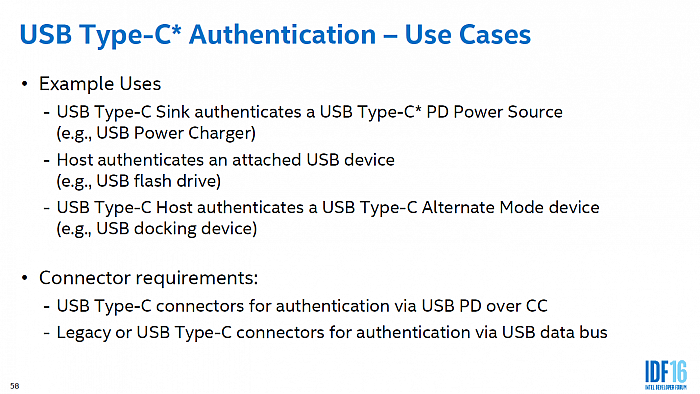 Systém USB Type-C Authentication