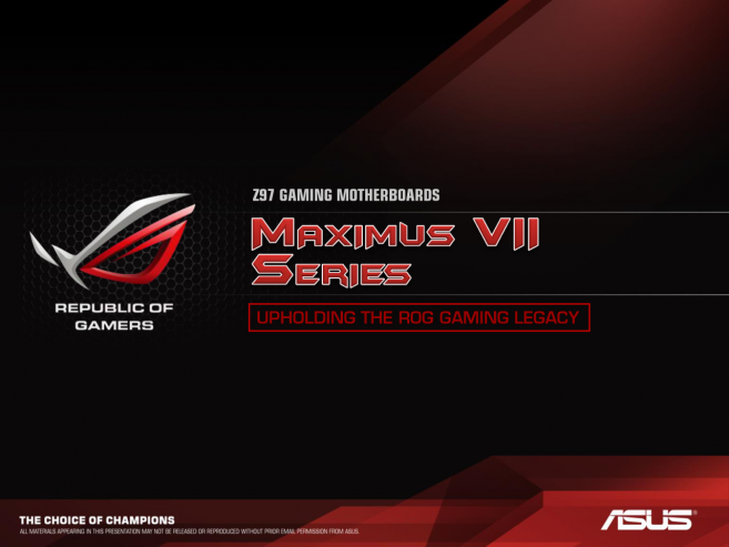 Prezentace Asus Z97 Republic of Gamers