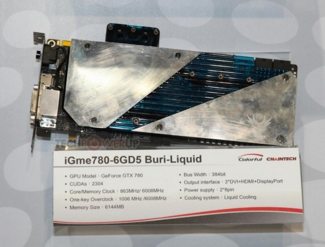 Colorful iGame GeForce GTX 780 Buri-Liquid (Zdroj: techPowerUp)