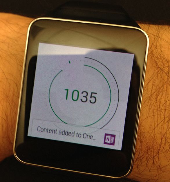 OneNote pro Android Wear
