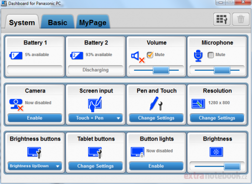 Utilita Dashboard for Panasonic PC