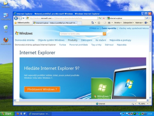 Internet Explorer 9 pod Windows XP? Ani náhodou