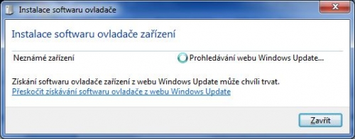 Windows 7 si pro ovladače chodí na Windows Update