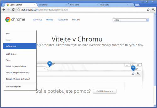 Google Chrome 20 beta