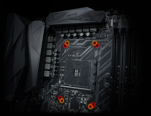 Socket AM4 na desce Asus ROG Crosshair VI Hero