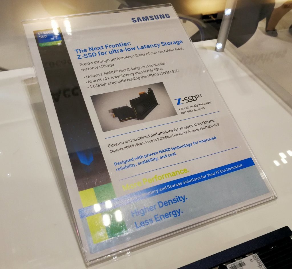 800GB karta Samsung Z-SSD na Cloud Expo Europe (Zdroj: AnandTech)