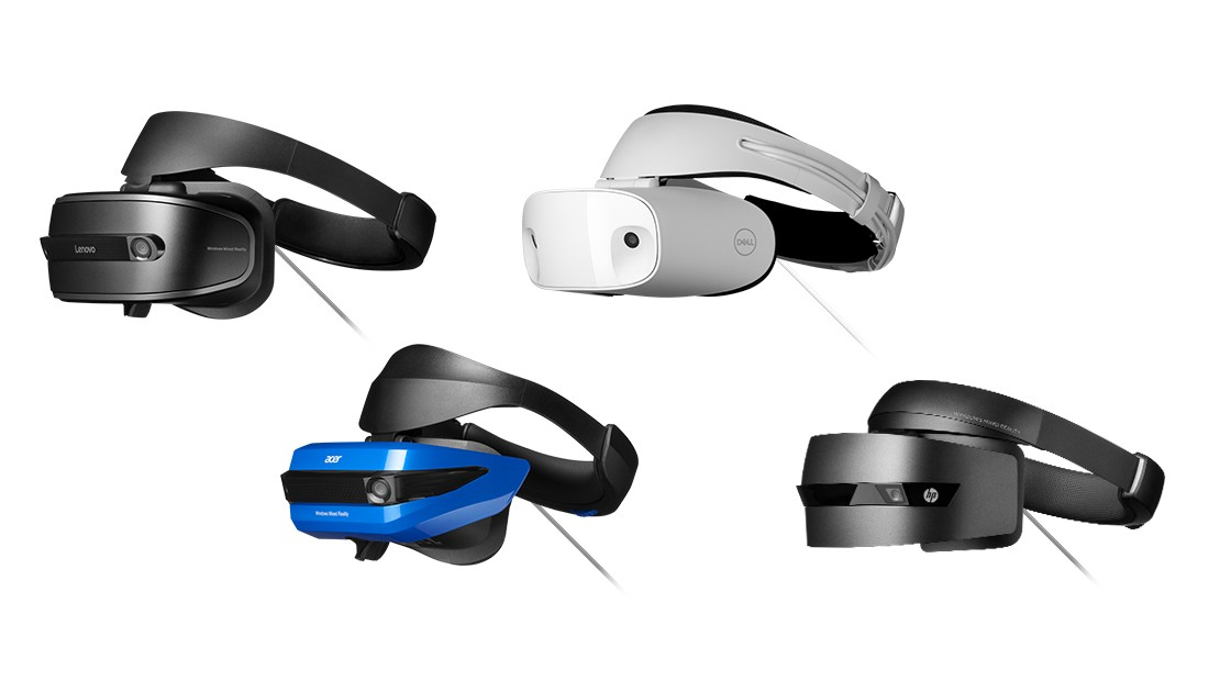 Windows Mixed Reality v podání brýlí od HP, Lenova, Aceru a Dellu