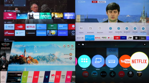 Android TV, Tizen, WebOS a My Home Screen
