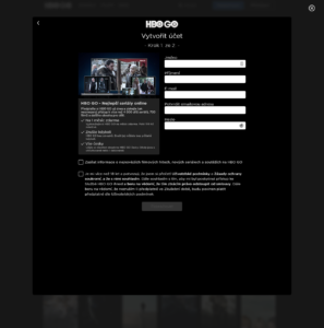 Registrace HBO Go