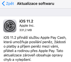 Apple iOS 11.2