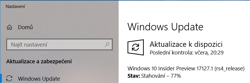 Windows 10 Insider Preview build 17127