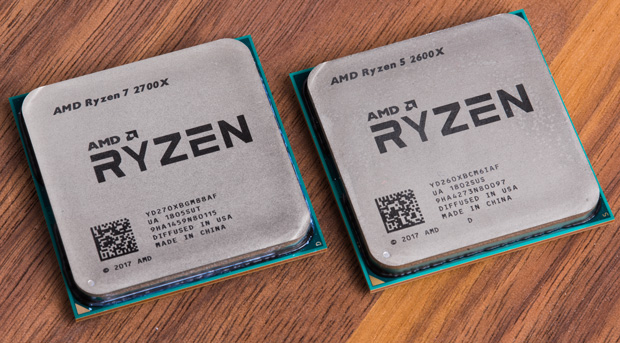 Ryzen 7 2700X a Ryzen 5 2600X na fotce webu The Tech Report