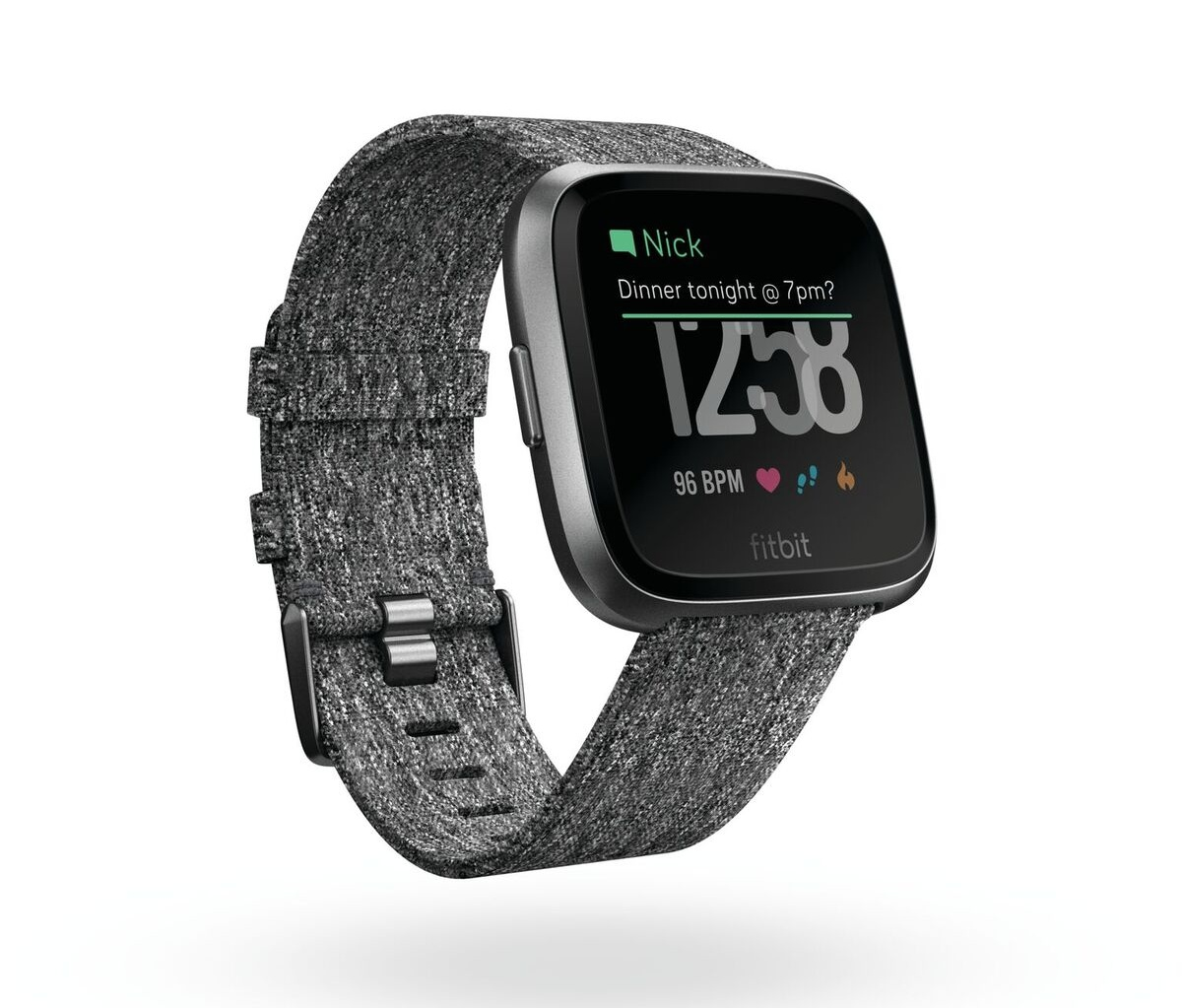 b58af77de3d fitbit versa 3qtr se charcoal notifications preview  fitbit versa front se charcoal pay preview