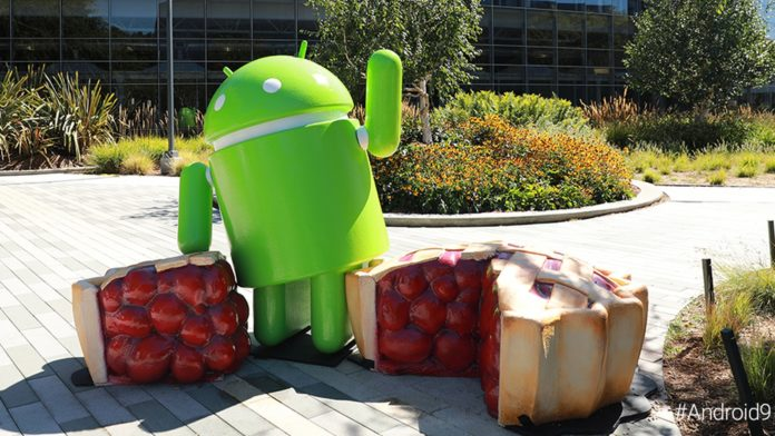 Socha Android Pie Googleplex
