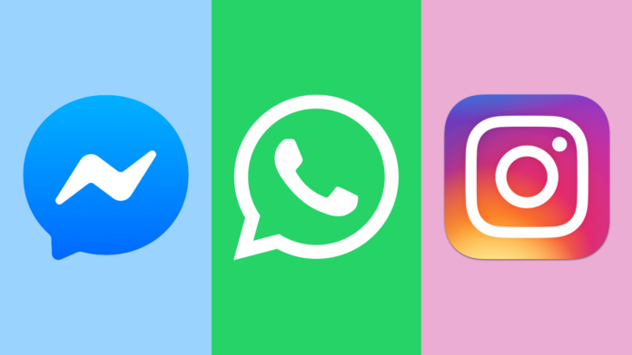 Facebook Messenger, WhatsApp a Instagram