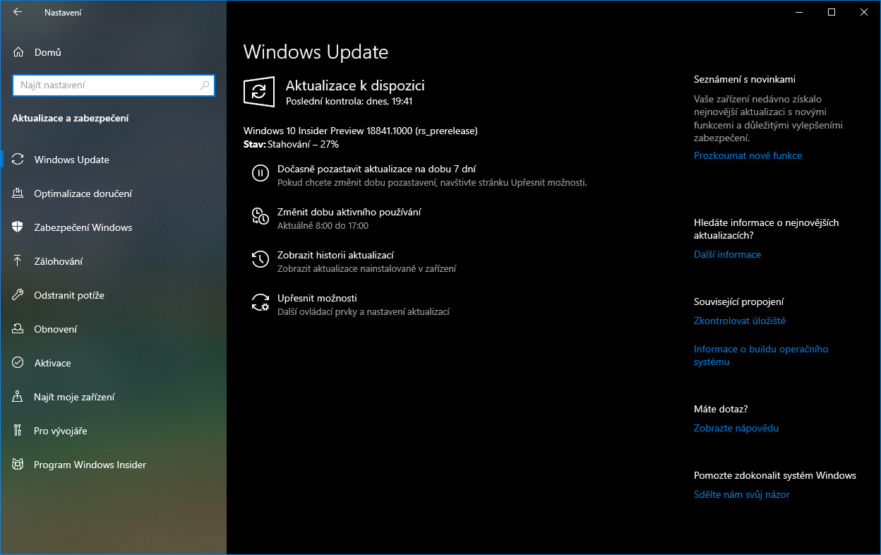 Windows 10 Insider Preview build 18841 2