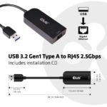 Ethernetovy aapter do USB Club 3D CAC 1420 03