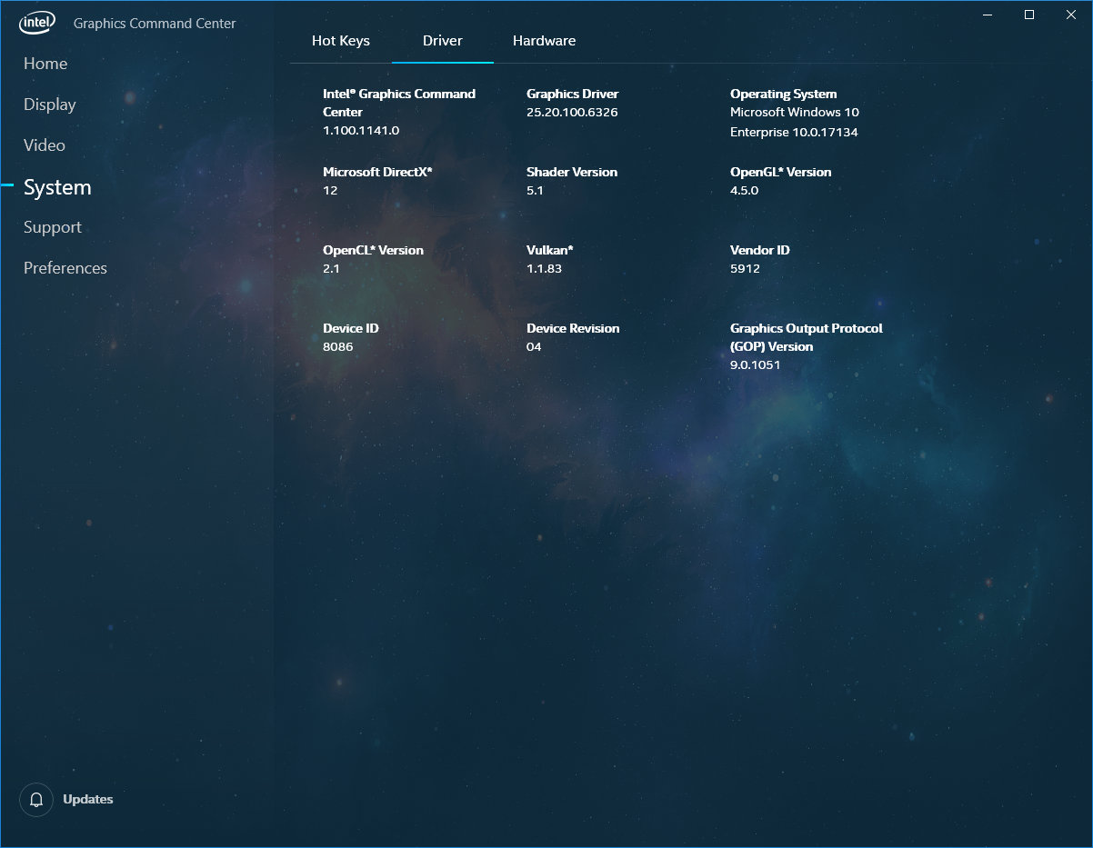 Screenshoty Intel Graphics Command Center Zdroj AnandTech 06