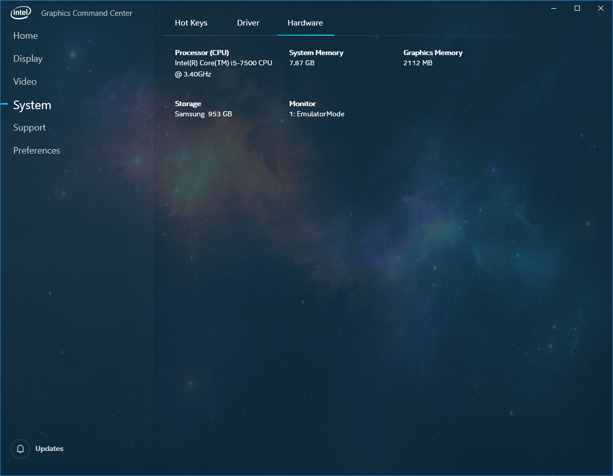 Screenshoty Intel Graphics Command Center Zdroj AnandTech 07