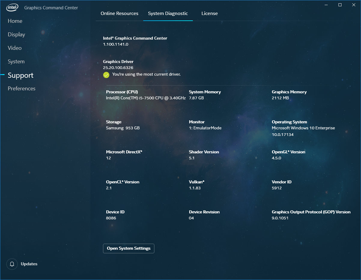 Screenshoty Intel Graphics Command Center Zdroj AnandTech 09
