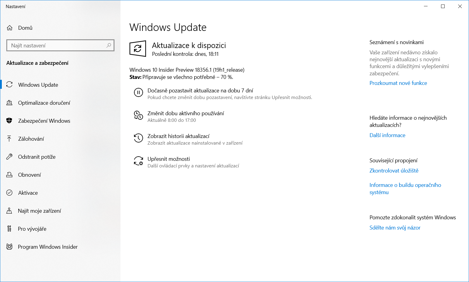 Windows 10 Insider Preview build 18356 1
